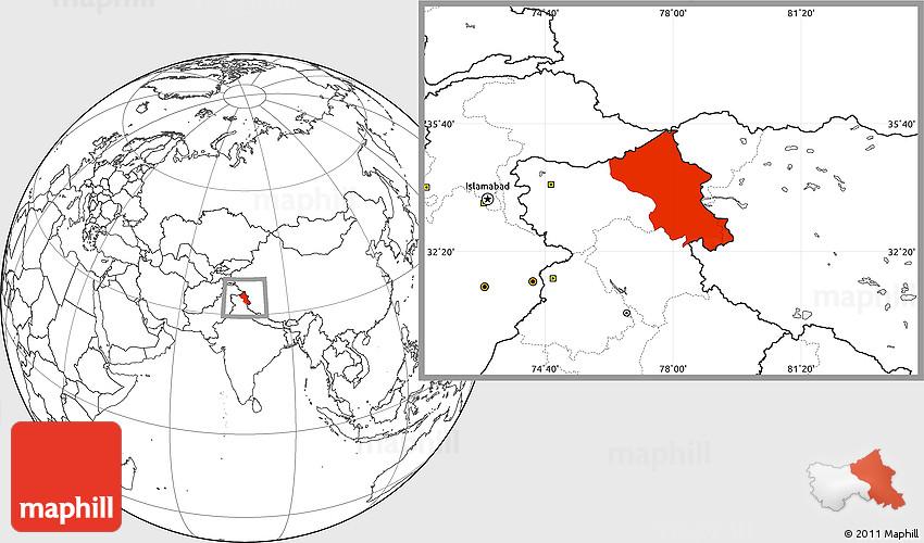 Mappa interattiva luoghi Kashmir Ladakh Zanskar